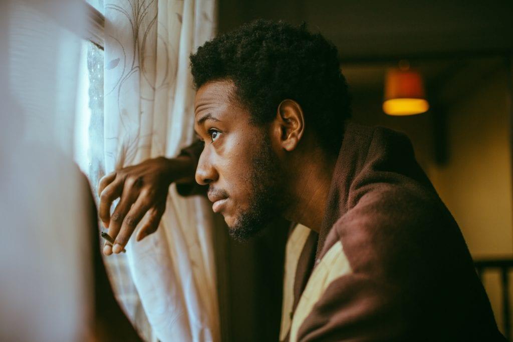Lloyd by the window